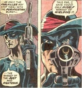 Foolkiller holding, then aiming his gun