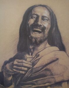 Jesus laughing