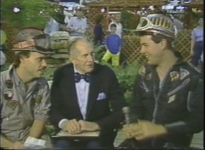 Richard (left) and Randy interviewing Vincent Price