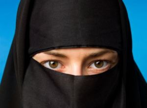 The Burqa: A heroic woman fighting Muslim Apartheid and defending women's rights.