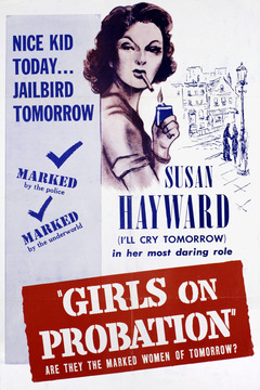 Susan Hayward appears in the film for about a minute and a half total, despite her prominence on this poster.