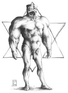 Artist's rendition of a Golem