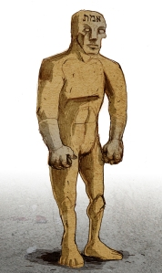 Golem depicted by Philippe Semeria