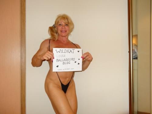 """Legendary female bodybuilder """"WildKat"""" Connors loves Balladeer's Blog!"""