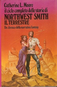 Even though Northwest Smith always used ray-guns but NEVER a sword this artist drew him holding one anyway. Go figure.