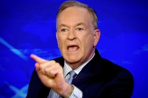 The grandeur of Bill O'Reilly caught in mid-lie.