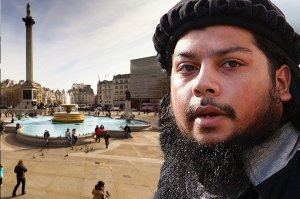 A savage threatens beheadings in Trafalgar Square