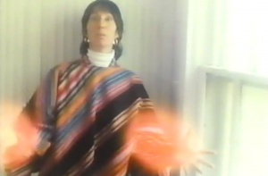 The pancho-clad Cher lookalike displaying her powers in all their AV Club glory.