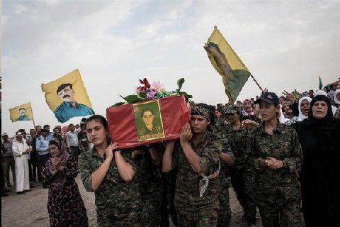While some women consider themselves brave for lifting protest signs these women carry the coffin of one of their fallen sisters.