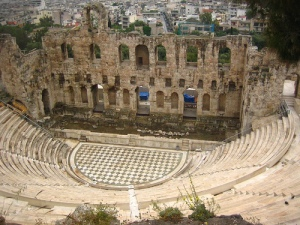 The Ruins of the Theater of Dionysus in Athens.