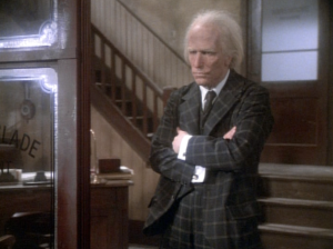 """""""I'm not gonna pay a lot for this makeup job!""""  ... Henry Winkler IS a zombie Scrooge in An Undead Christmas Carol."""
