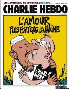Charlie Hebdo kiss