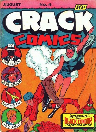 Ignoring his foe's lethal flatulence cloud the Black Condor defeated him with a super-wedgie.