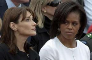 Michelle Obama scowl