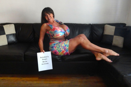 Balladeer's Blog's Official Movie Hostess, the sexy Casey James.