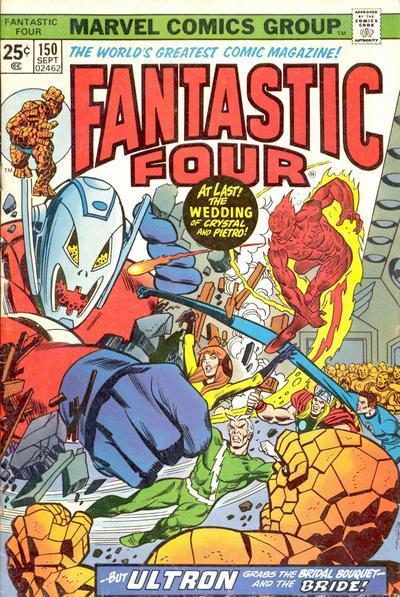 From September 1974 comes this cover featuring Ultron attacking the Avengers, Fantastic Four and the Inhumans.
