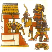Aztec fire god