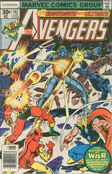 The August 1977 cover of the story The Bride of Ultron.