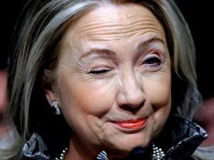 Hillary Winking