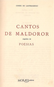 The coveted Portuguese translation of The Songs of Maldoror.