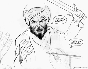 If you disagree with the spirit of this cartoon you're clearly too weak-minded to handle freedom of expression.