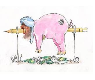 Muhammad as a pig, the way he deserves to be remembered!