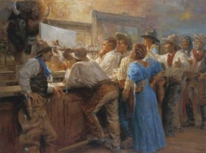 Painting by Charles Marion Russell aka Kid Russell