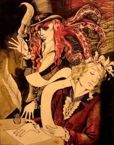 Maldoror and Mervyn, drawn by Monsieur Le Six.