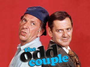 The Odd Couple Jack Klugman (left) and Tony Randall