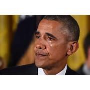 Obama crying gun control