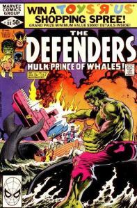 Defenders 88 Hulk and whales