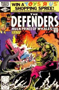 Defenders 88 Hulk and whales