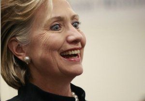 Hillary Clinton crazy smile