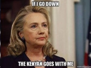 Hillary Clinton kenyan remark