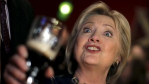 hillary-drink-in-hand