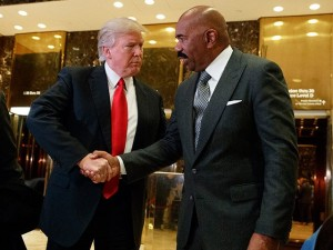 Donald Trump and Steve Harvey 2