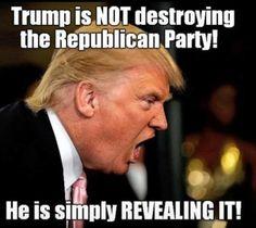 Trump is revealing it