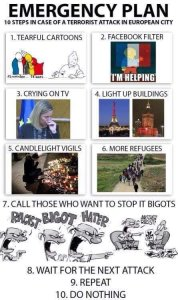 Muslim terror attack 10 step plan