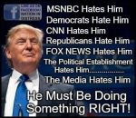 Trump doing right