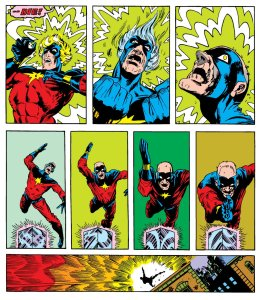Mar Vell destroying the cosmic cube