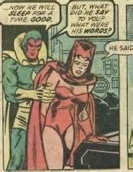 Vision and the Scarlet Witch at Bob Frank bedside