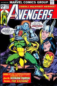 Avengers 135 torch is passed