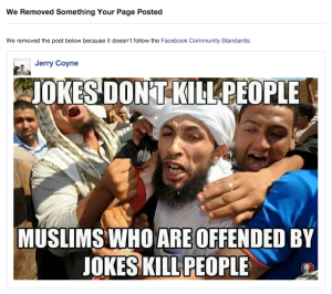 Islam jokes don't kill people