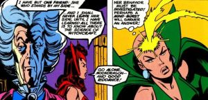 Moon Dragon probing Scarlet Witch