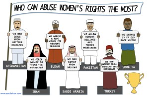 Muslim nations abusing women