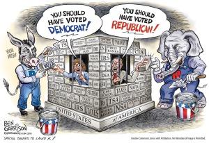 Democrats and Republicans imprisoning voters