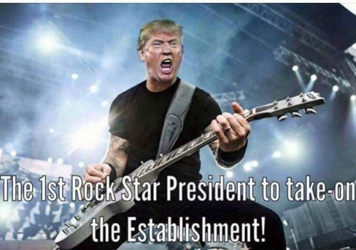 Donald Trump rock star