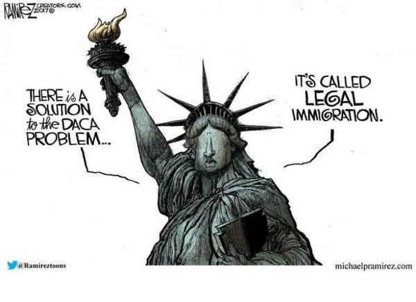 illegal immigration cartoon