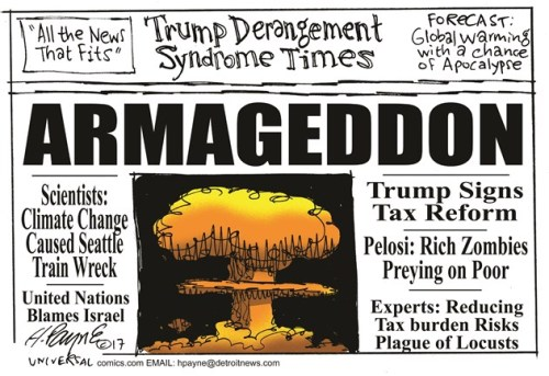 Trump derangement syndrome cartoon