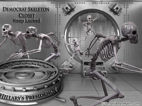 cartoon Democrat skeletons